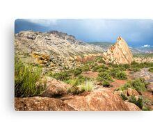 Split Mountain Rainsoaked Canvas Print