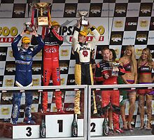 Podium After Race 2 by Russell  Burgess