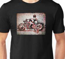 Motorcycle, Girl, art, bike, woman, female, blaster, helmet, visor, wheels, chopper, harley, harleydavidson, harley davidson Unisex T-Shirt