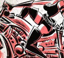 Motorcycle, Girl, art, bike, woman, female, blaster, helmet, visor, wheels, chopper, harley, harleydavidson, harley davidson Sticker