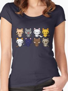 Cute Kitty Cats Women's Fitted Scoop T-Shirt