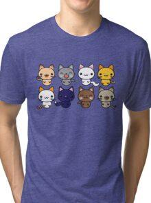 Cute Kitty Cats Tri-blend T-Shirt
