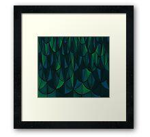 Geometric Sea Scales Framed Print