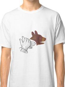 Hand Silhouette Dog Brown Classic T-Shirt