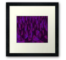 Violet Geometric Scales Framed Print
