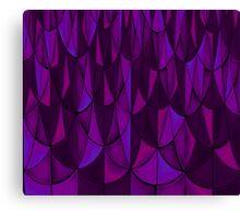 Violet Geometric Scales Canvas Print