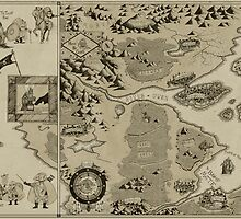 Old Worldly Map by djrbennett