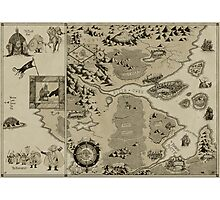 Old Worldly Map Photographic Print