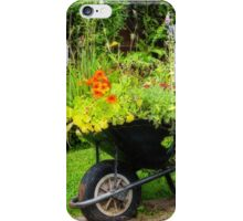 Decorative use for an old wheelbarrow iPhone Case/Skin