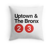 Uptown & The Bronx Throw Pillow