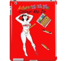 Colour me in 4 Xmas No3 iPad Case/Skin