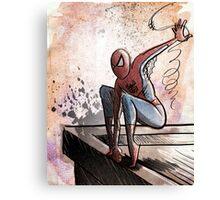 Spider-man, Art, Comics, Comic Books,  spiderman, spider man, comic book, stan lee, marvel, marvel comics, marvel comic, peter parker, spidey  Canvas Print