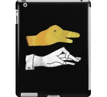 Hand Silhouette Duck Yellow iPad Case/Skin