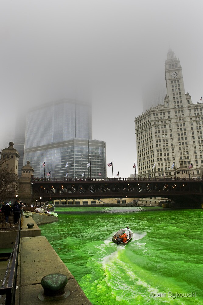 Chicago River and Fog by Adam Bykowski