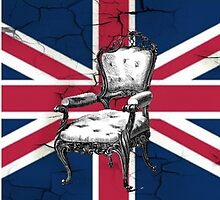 uk flag british union jack vintage rococo chair by lfang77