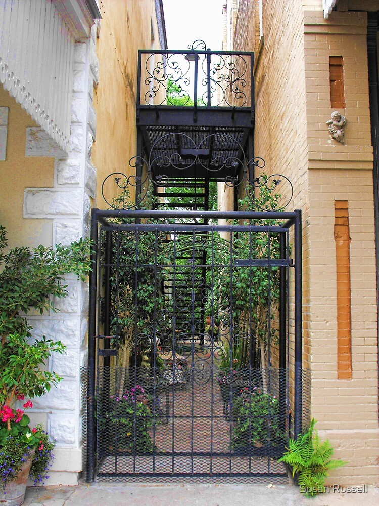 Walkway in Downtown Goliad, Texas by Susan Russell
