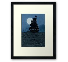 Sailing Under The Moon Framed Print