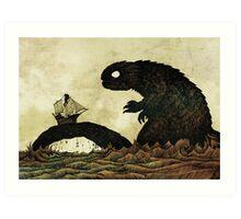 Leviathan & Ship Art Print