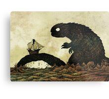 Leviathan & Ship Metal Print