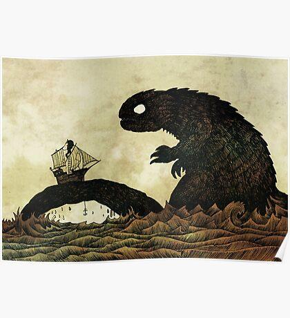 Leviathan & Ship Poster