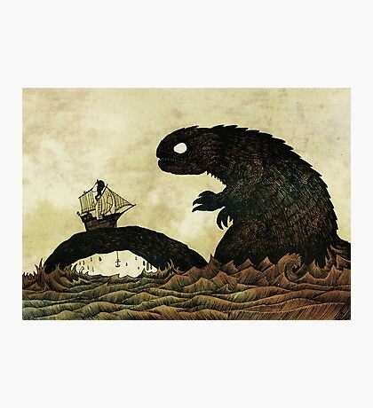 Leviathan & Ship Photographic Print