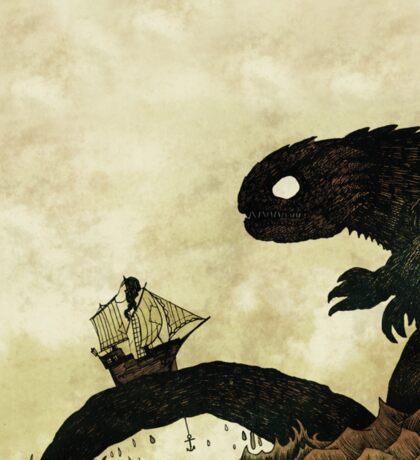 Leviathan & Ship Sticker