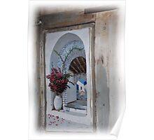 Arte en isla Fira  - Grecia................... Poster