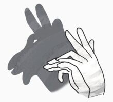 Hand Silhouette Billy Goat Gray Kids Tee