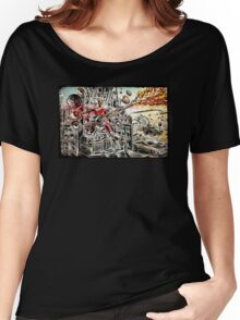 Doof Warrior, Mad Max, Art, Guitar Player, guitar, flame guitar, flame, fury road, joe badon Women's Relaxed Fit T-Shirt