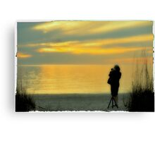 Naples Silhouette at Sunset Canvas Print