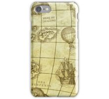 Sea Monsters Map iPhone Case/Skin