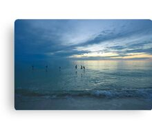 Delnor-Wiggins Pass State Park Sunset Canvas Print