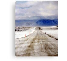 Icelandic Open Road Canvas Print