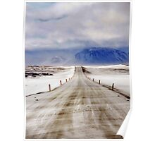 Icelandic Open Road Poster