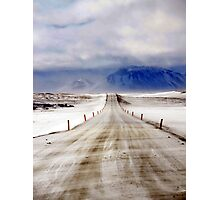 Icelandic Open Road Photographic Print