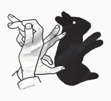 Hand Silhouette Rabbit Kids Clothes