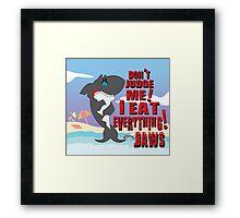 SAD JAWS Framed Print