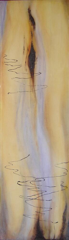 Scribbly Gum Tryptch II by Marilyn Brown