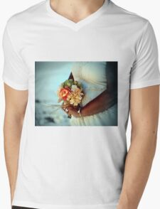 Bride's Bouquet Mens V-Neck T-Shirt