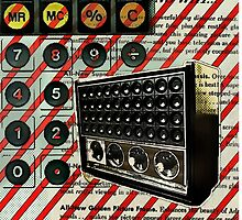 geeky nerdy retro calculator vintage shortwave radio  by lfang77