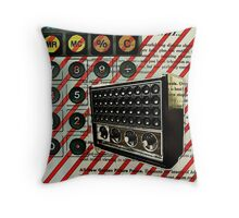 geeky nerdy retro calculator vintage shortwave radio  Throw Pillow