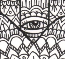Hamsa Hand: Black/White Sticker