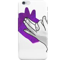 Hand Silhouette Wolf Purple iPhone Case/Skin