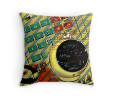 geek nerd alarm clock calculator retro Throw Pillow