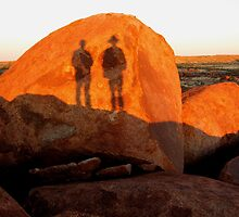 Shadows at Devil's Marbles by Tim Coleman