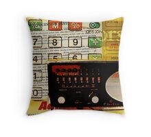 funky geek nerd shortwave radio retro calculator  Throw Pillow