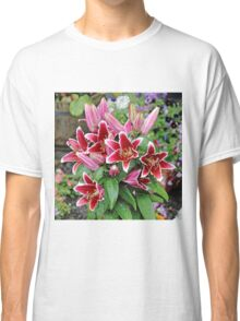 Red Wet Lilies Classic T-Shirt