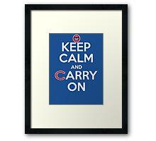 Keep Calm Carry On Cubs Framed Print