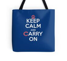 Keep Calm Carry On Cubs Tote Bag