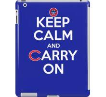 Keep Calm Carry On Cubs iPad Case/Skin